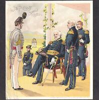 Gen Scott Uniform of US Army Brig. Gen#x27;l Holabird 1880#x27;s Coats Sewing Trade Card