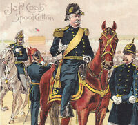 Gen Hancock US Army Uniform 1880#x27;s Castle Williams NY Holabird Sewing Trade Card