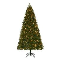 9 ft. Pre-Lit LED Wesley Spruce Quick-Set Artificial Christmas Tree w Warm White