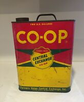 Vintage Co Op Farmers Union Central Exchange 2 Gallon Motor Oil Can