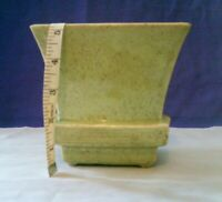 McCoy Pottery Planter, Green w/ Brown Specks, Rectangle, Art Deco Design