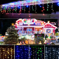Icicle Snowing Effect Lights Christmas Xmas Indoor Outdoor Leds Memory Function