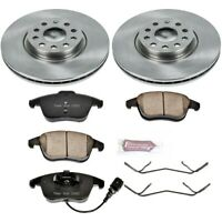 KOE2963 Powerstop 2-Wheel Set Brake Disc and Pad Kits Front New for VW Passat Q3