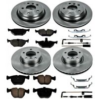 KOE5802 Powerstop Brake Disc and Pad Kits 4-Wheel Set Front & Rear New for VW