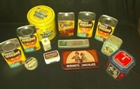 Vintage food Tins lot NESTLE quick RARE/HERSHEY'S + others Great FOR COLLECTORS