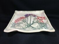 Fossilized Pottery Dish~Meadow Flowers Historic Plants Monticello ~ Virginia Gem