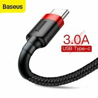 Baseus USB to Type C Charger Cable Fast Charging Lead Data Cord for Samsung LG $4.99