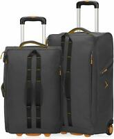 Carry on Luggage Rolling Wheeled Duffel Bag Softside Checked Suitcase 21''