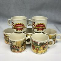 Vintage Campbell's Kids Soup Coffee Mugs Cups By Westwood-Set Of 7 Different