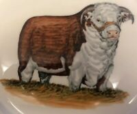 RARE HTF Abercrombie Hereford Bull Collection Hand Painted By Frank Vosmansky