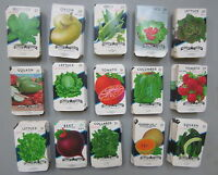 Wholesale Lot of 1,500 Old - VEGETABLE SEED PACKETS - Texas - Lone Star - EMPTY