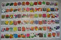 Lot of 84 Old Vintage 1960's - 1970's - FLOWER SEED PACKETS - Lone Star - EMPTY