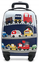 Rolling Luggage with Wheels Hard Shell Carry Suitcase 18 inch Toddler Boys Ve...
