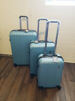 LUGGAGE SET 3PIECE SUITCASES ABS TROLLY SPINNER HARDSHELL LIGHTWEIGHT ERIC YIAN