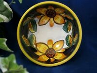 Deruta Italy Italian Pottery Tuscan Sunflowers Olive Oil Dipping Bowl
