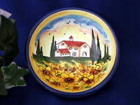 Tuscany Italy Italian Pottery Tuscan Landscape Olive Oil Dipping Bowl