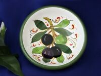 Tuscany Italy Italian Pottery Tuscan Olives Blanco Olive Oil Dipping Bowl