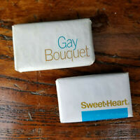 2 Vintage Small Hotel Soaps Gay Bouquet Sweet Heart Motel Soap Purex Corporation