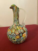 Murano Millifiori Pitcher with Applied Frosted Handle