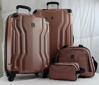 TAG LEGACY 4 PIECE LIGHTWEIGHT HARDSIDE SPINNER LUGGAGE SET PINK