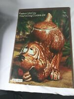 Vintage Mccoy Hound Dog Cookie Jar With Box USA 0272 Brown...7