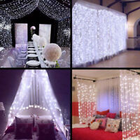 10ft 300 LED Window Curtain String Light Wedding Party Home Decorations
