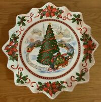 VILLEROY amp; BOCH TOY#x27;S FANTASY 15.25quot; Christmas PLATTER Christmas Tree And Train