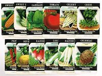12 VINTAGE SEED PACKET LOT NOS 1920S GARDEN LITHOGRAPH GENERAL STORE PACK COLORS