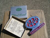 Original 1950s nos AAA auto club badge emblem chrome vintage scta GM Ford Chevy