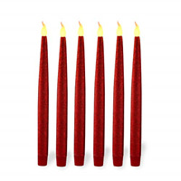 Red LED Taper Candles Window Candles Lights Long Candles, Battery Powered
