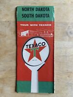 North Dakota South Dakota Texaco Vintage 1957 Map