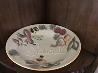 Vintage Salad Bowl Los Angeles Pottery Large 14 inch Hand Painted ....#508