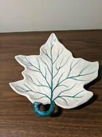 WC amp; G Italy Mid Century Beautiful Hand Painted Leaf Dish