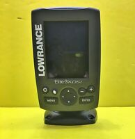 LOWRANCE ELITE 3X DSI SONAR FISHFINDER FISH FINDER UNTESTED AS IS FOR PARTS