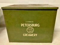 OLD PETERSBURG OHIO CREAMERY COMPANY GREEN METAL MILK BOX