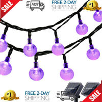 Halloween String Lights 20ft 30 LED Outdoor Decorations Purple2 Pack