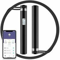 Jump Rope Smart With APP Data Analysis USB Rechargeable Skipping HD LED Gym $26.98