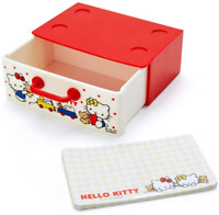 JAPAN Sanrio Hello Kitty Cat Toys Mini Stackable Case Storage Drawer w Notepad