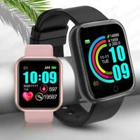 Smart Watch Heart Rate Blood Pressure Waterproof Fitness Tracker Android amp; IOS $15.99