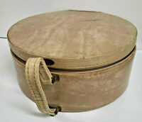 15quot; Hat Box Truly Light Round #x27;Tailored#x27; Train Rigid Case Vintage Luggage