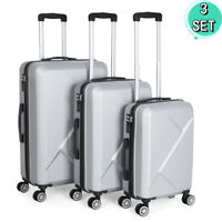 3PCS Luggage Suitcase Travel Set Trolley Bag ABS Hard Shell Spinner w Lock New