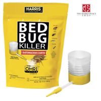 Bed Bug Killer Powder Diatomaceous Earth Insect Cockroaches Fleas Protect 32 oz.