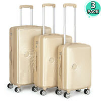 Set of 3 ABS Luggage Suitcase ABSPC Hardshell Spinner Lightweight 20 24 28quot;