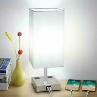Touch Control Table Lamp 3 Way Dimmable Nightstand Lamps with 2 USB Ports $43.64