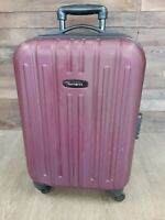 Samsonite Purple Wheeled Hard Side Zippered Suitcase Approx 25 inches Tall