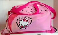 Pink Hello Kitty Rolling Carryon Travel Kids#x27; Luggage with Extension Handle