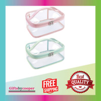 Clear Makeup Bag Cosmetic Bags for Women Clear Travel for Toiletries 2pcs NEW
