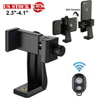 Cell Phone Tripod Adapter Holder Universal Smartphone Mount For iPhone amp; Samsung $7.59