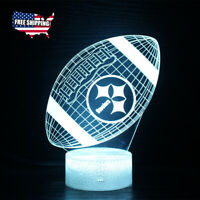 Pittsburgh Steelers 3D LED Night Light 16 colors Table Lamp Touch Remote Control $20.89
