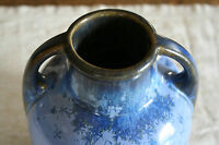 Pretty Blue Fulper Pottery Vase Crystalline Glaze GREAT Condition FREE SHIPPING